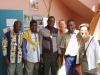 Les membres du bureau de l'Abem et deux participantes à l'atelier